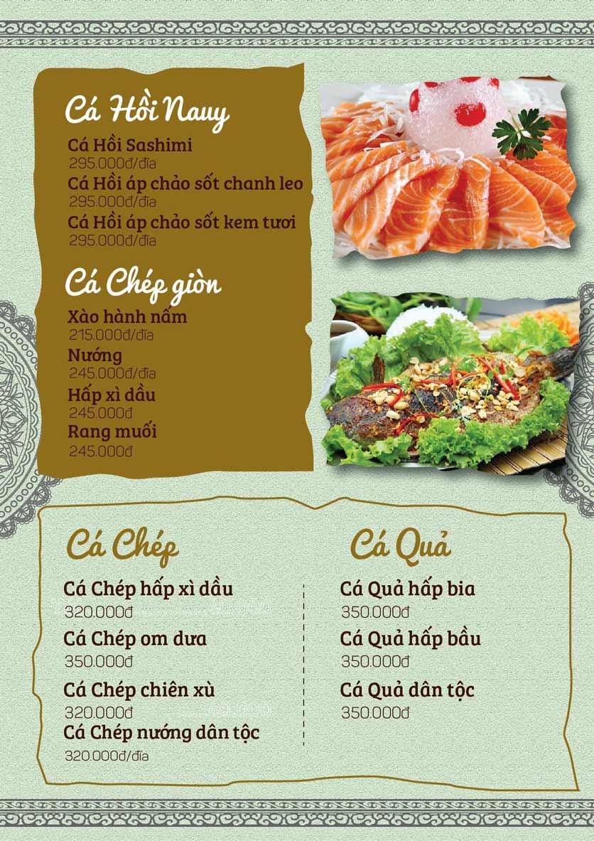 Menu Cá Lăng Việt Trì ĐHM - Phạm Hùng 2