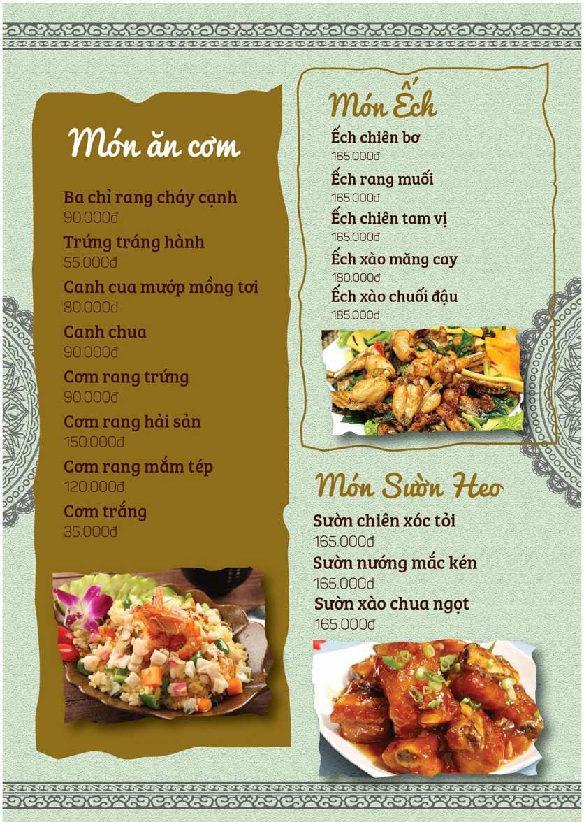 Menu Cá Lăng Việt Trì ĐHM - Phạm Hùng 3