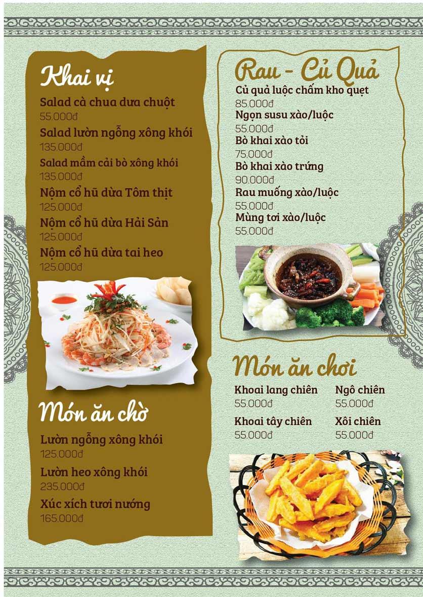 Menu Cá Lăng Việt Trì ĐHM - Phạm Hùng 4