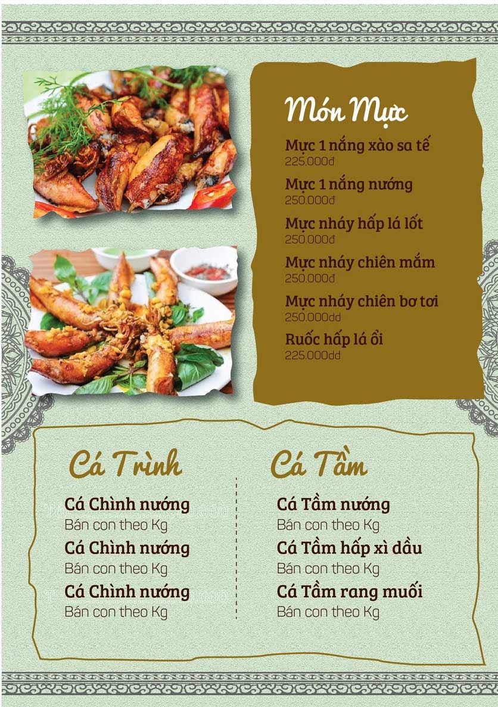 Menu Cá Lăng Việt Trì ĐHM - Phạm Hùng 5