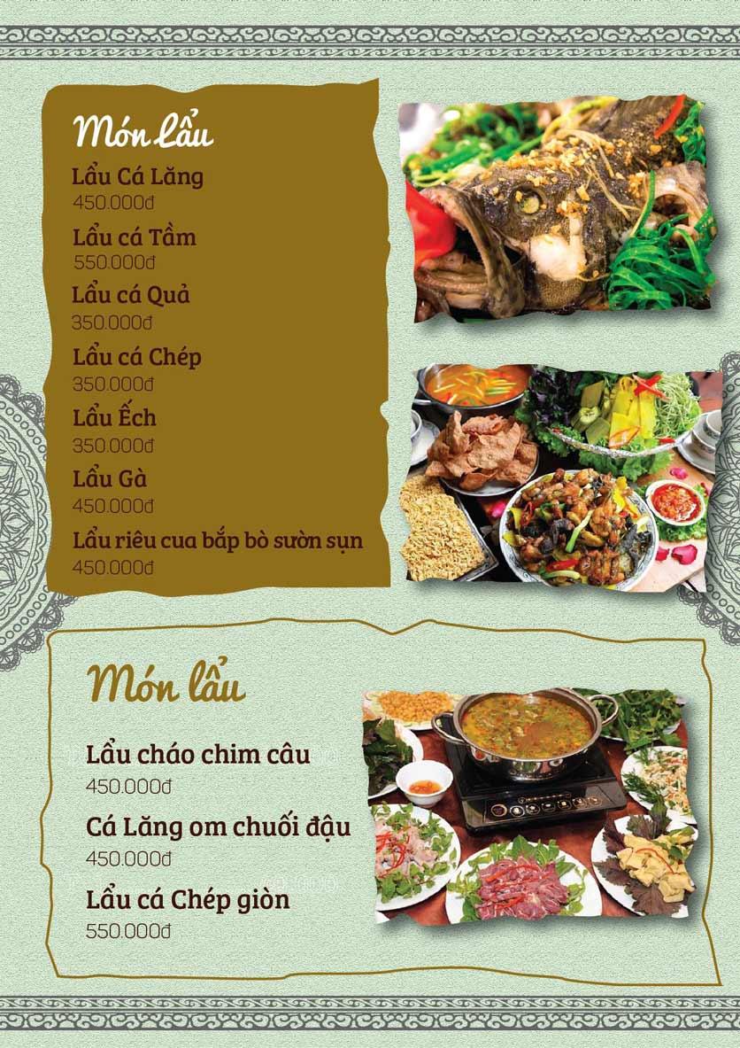 Menu Cá Lăng Việt Trì ĐHM - Phạm Hùng 7