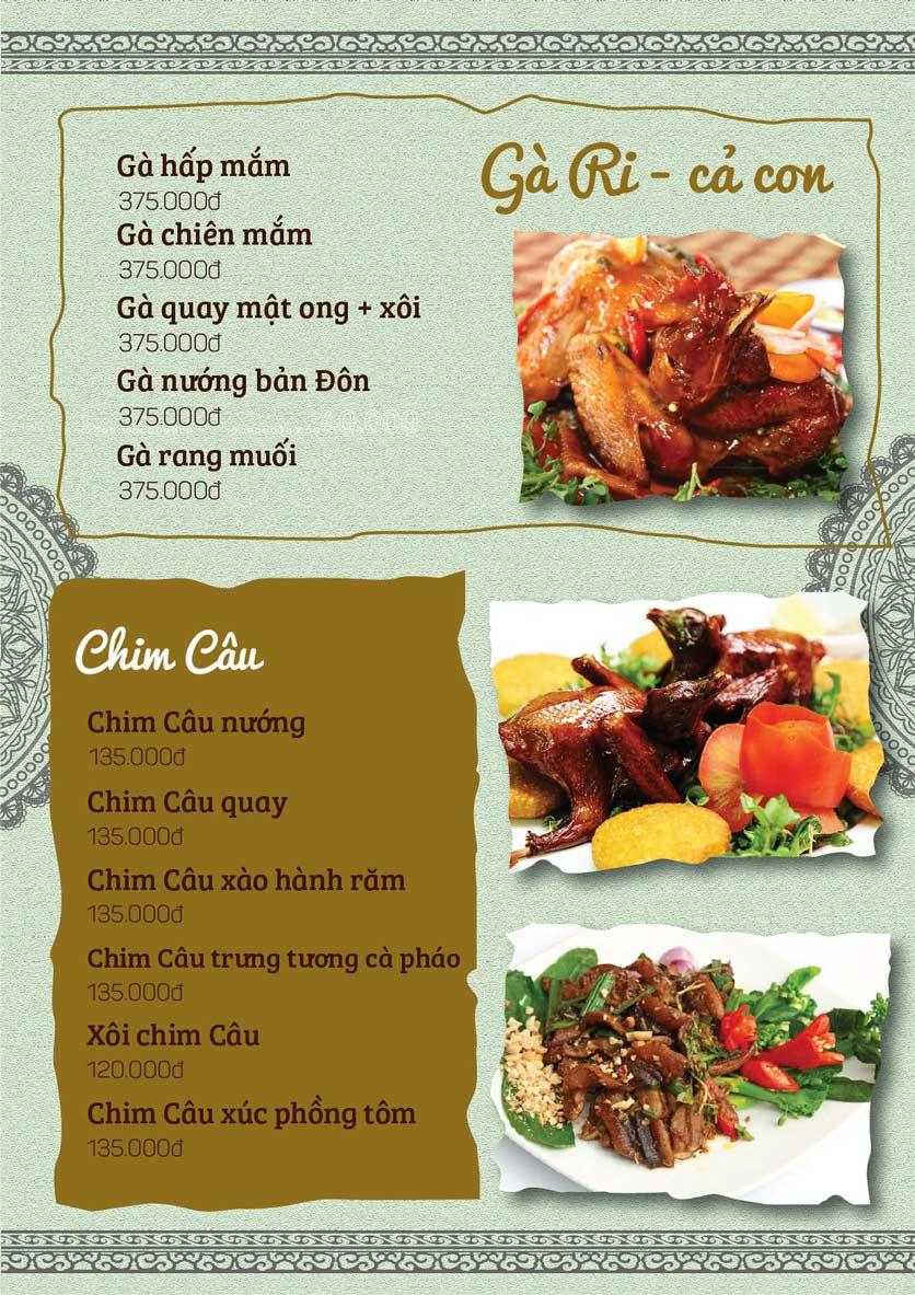 Menu Cá Lăng Việt Trì ĐHM - Phạm Hùng 8