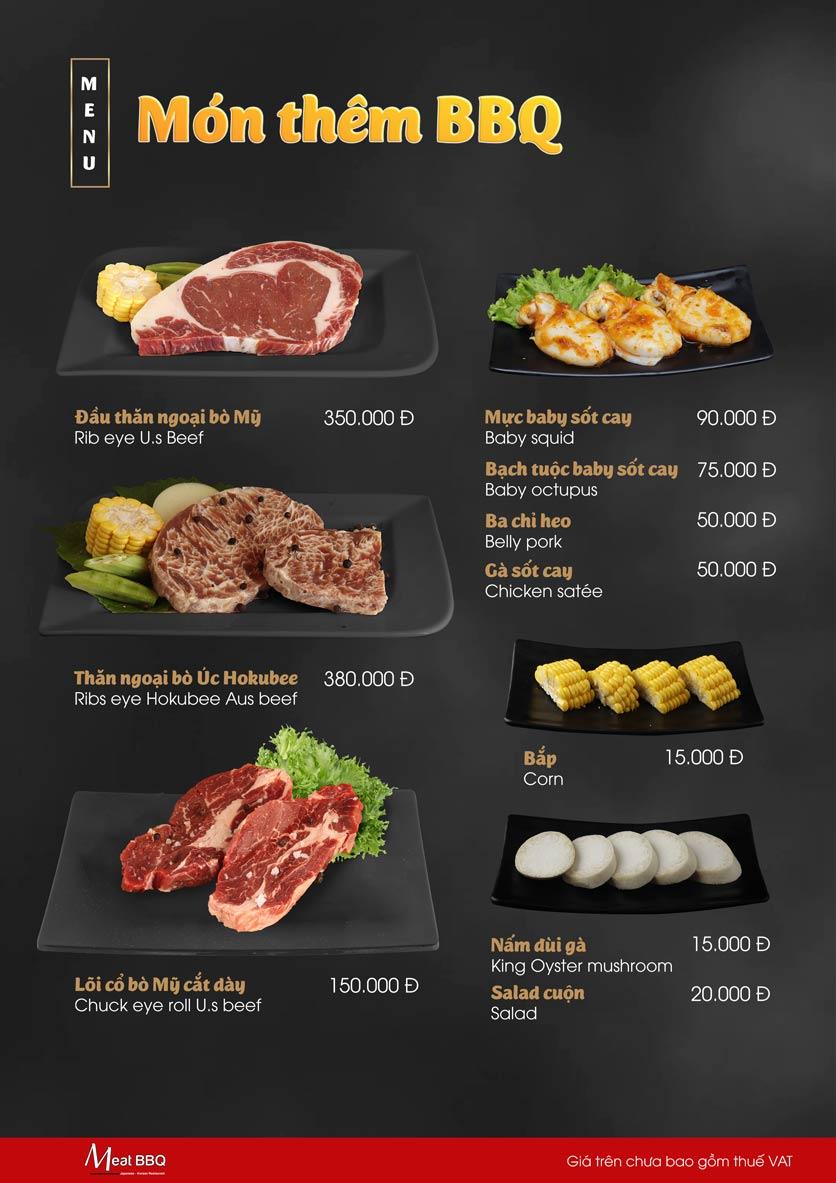 Menu Meat BBQ – Trần Khắc Chân 21