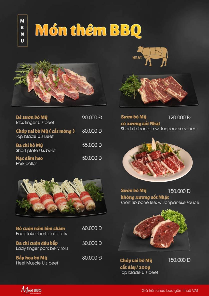 Menu Meat BBQ – Trần Khắc Chân 22