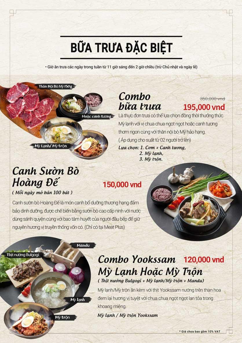 Menu Meat Plus - Trung Yên 3