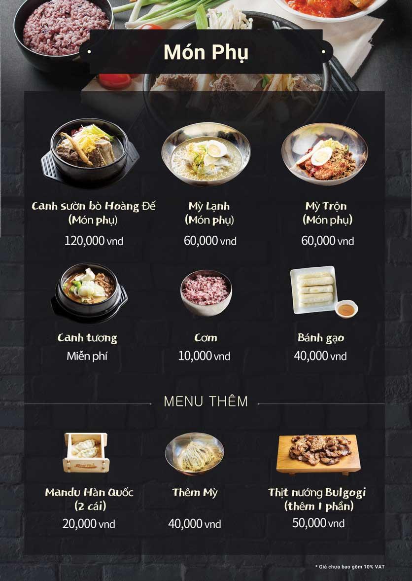 Menu Meat Plus - Trung Yên 4