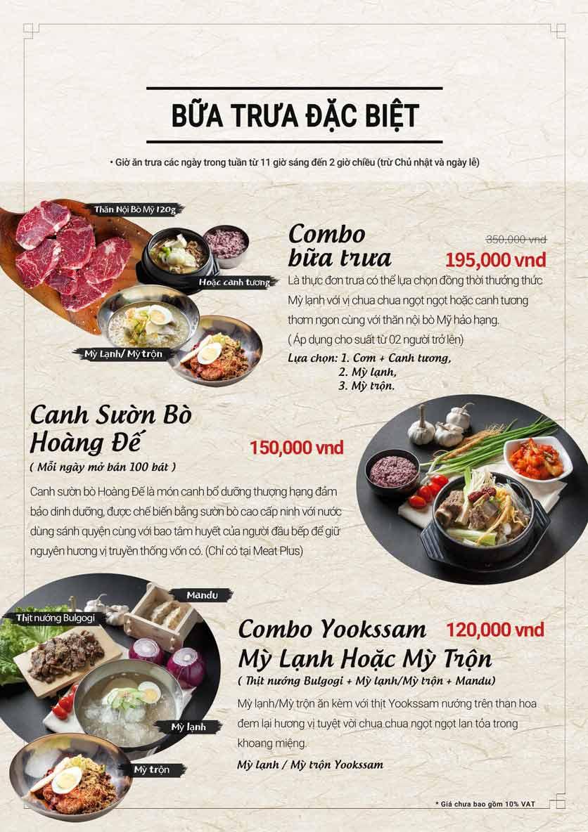 Menu Meat Plus - Aeon Mall Hà Đông 11
