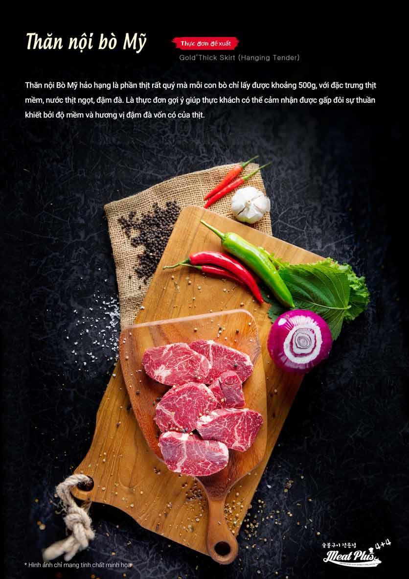 Menu Meat Plus - Aeon Mall Hà Đông 2
