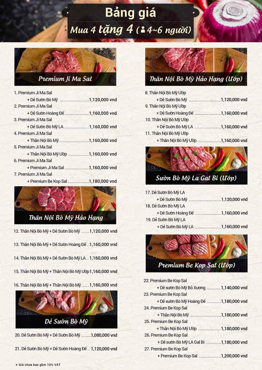 Menu Meat Plus - Aeon Mall Hà Đông 8