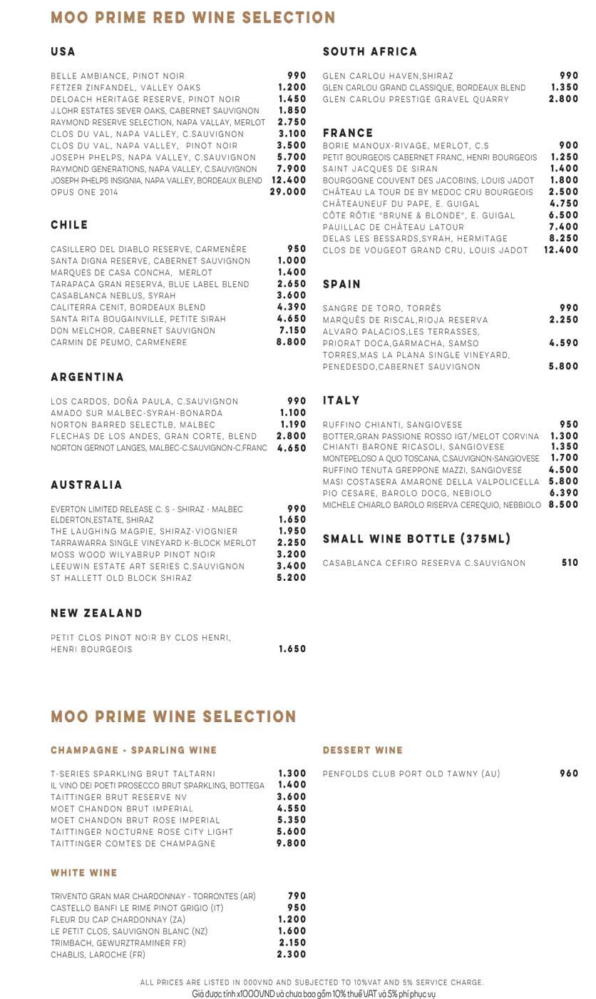 Menu Moo Beef Steak Prime - Ngô Đức Kế 4