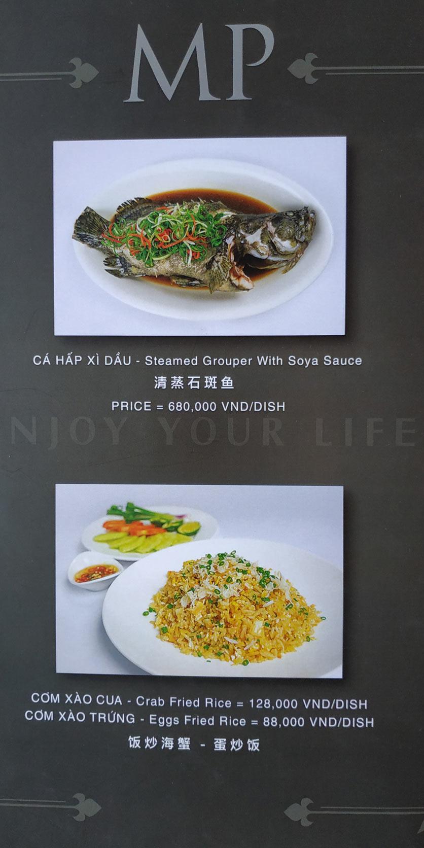 Menu MP Thai Seafood Restaurant - Phạm Văn Đồng 11