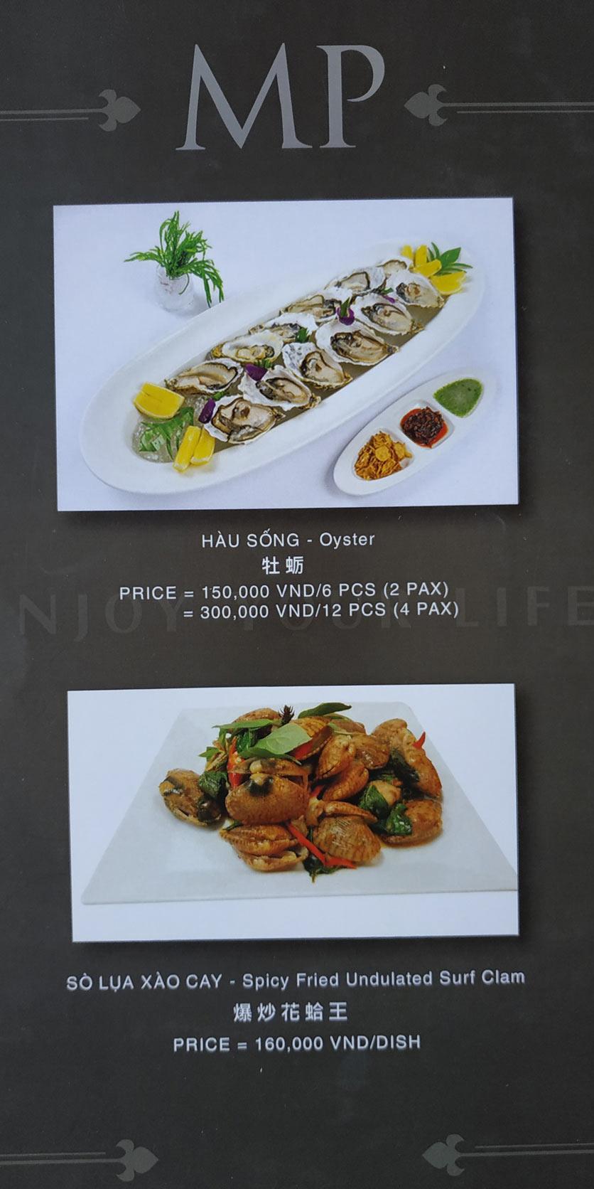 Menu MP Thai Seafood Restaurant - Phạm Văn Đồng 16