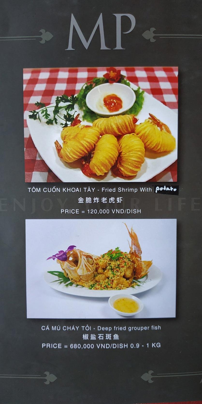 Menu MP Thai Seafood Restaurant - Phạm Văn Đồng 17