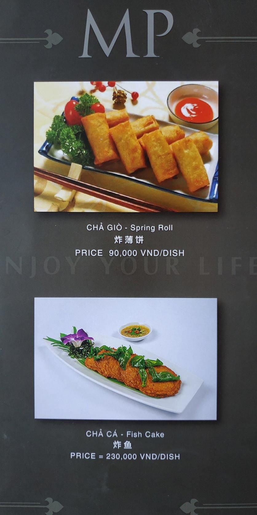 Menu MP Thai Seafood Restaurant - Phạm Văn Đồng 18