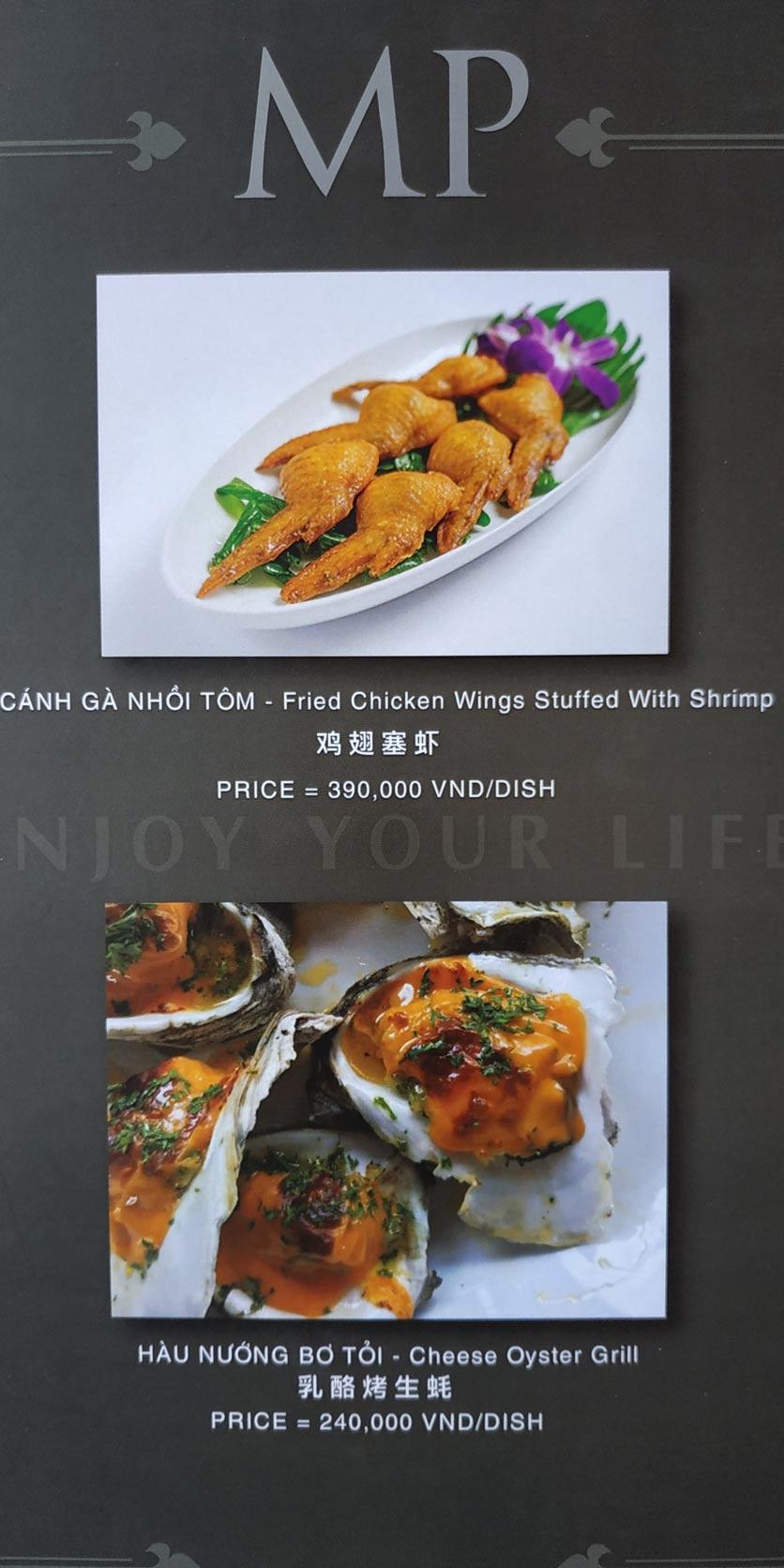 Menu MP Thai Seafood Restaurant - Phạm Văn Đồng 2