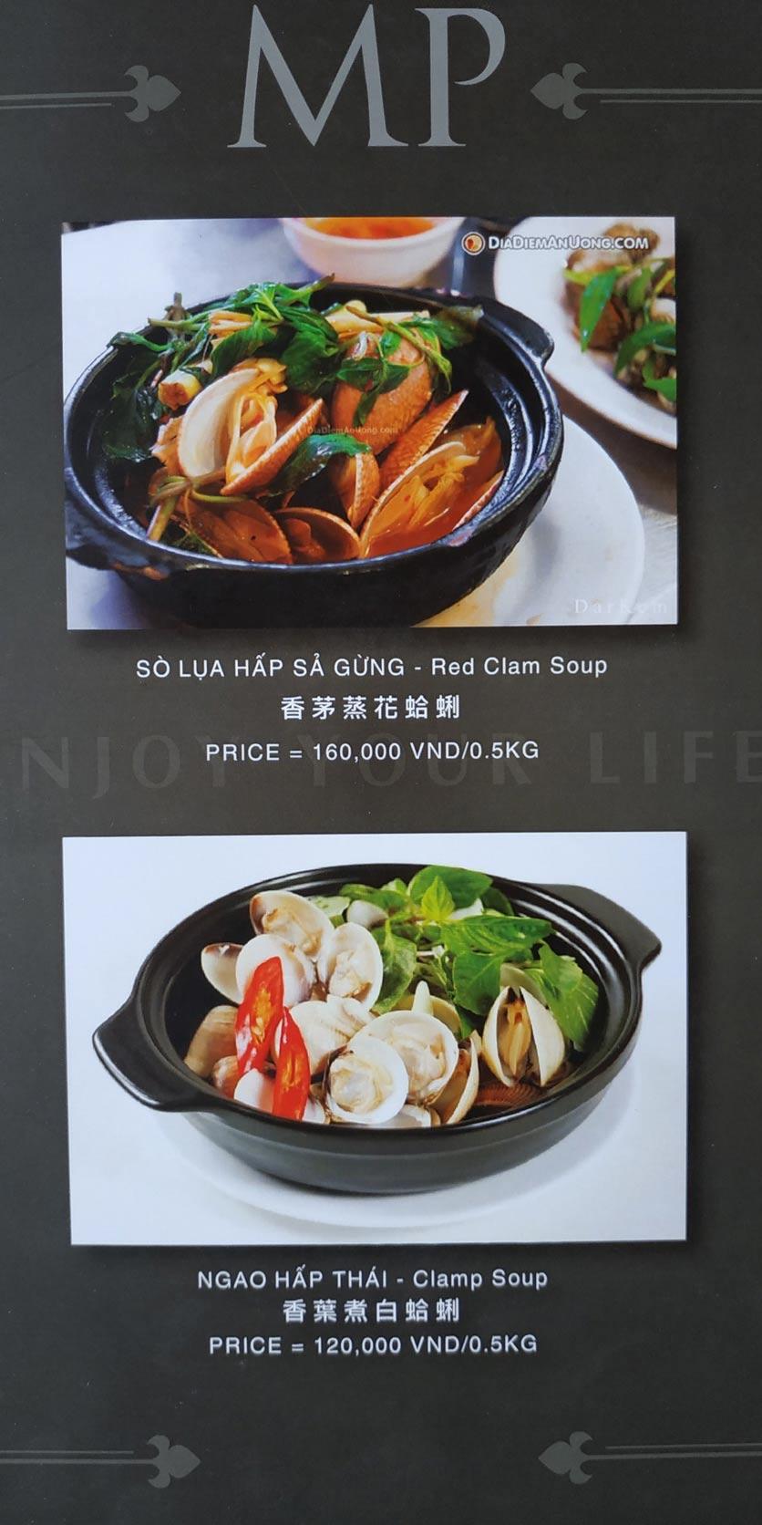 Menu MP Thai Seafood Restaurant - Phạm Văn Đồng 20