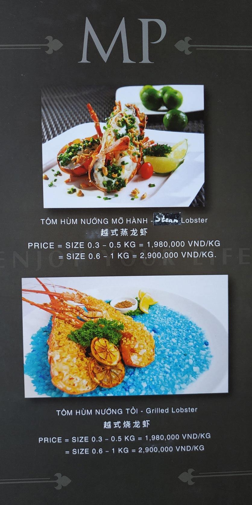 Menu MP Thai Seafood Restaurant - Phạm Văn Đồng 21