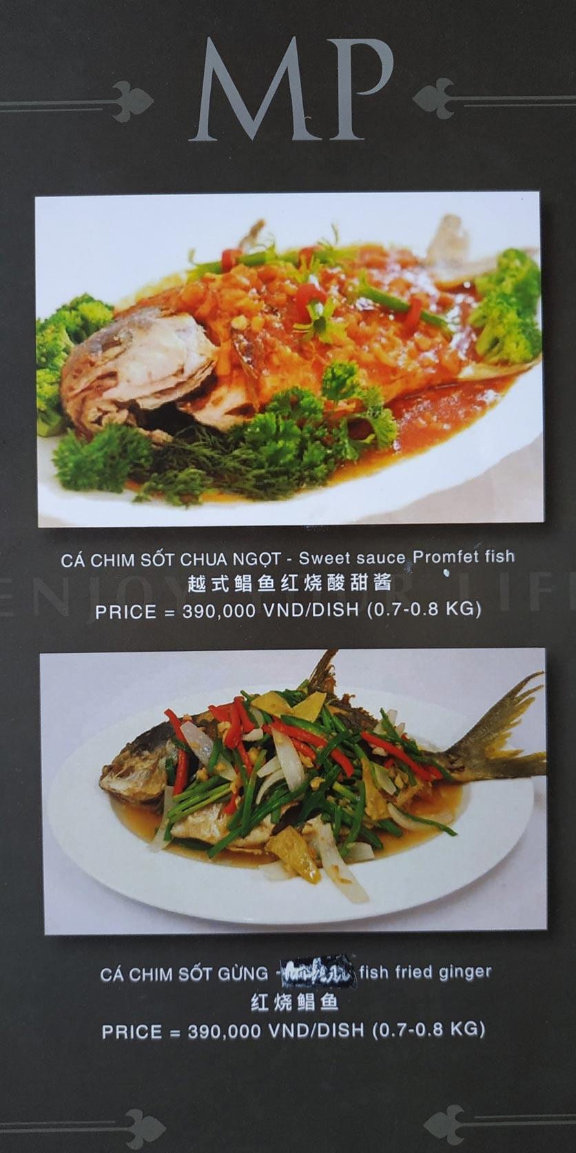 Menu MP Thai Seafood Restaurant - Phạm Văn Đồng 3