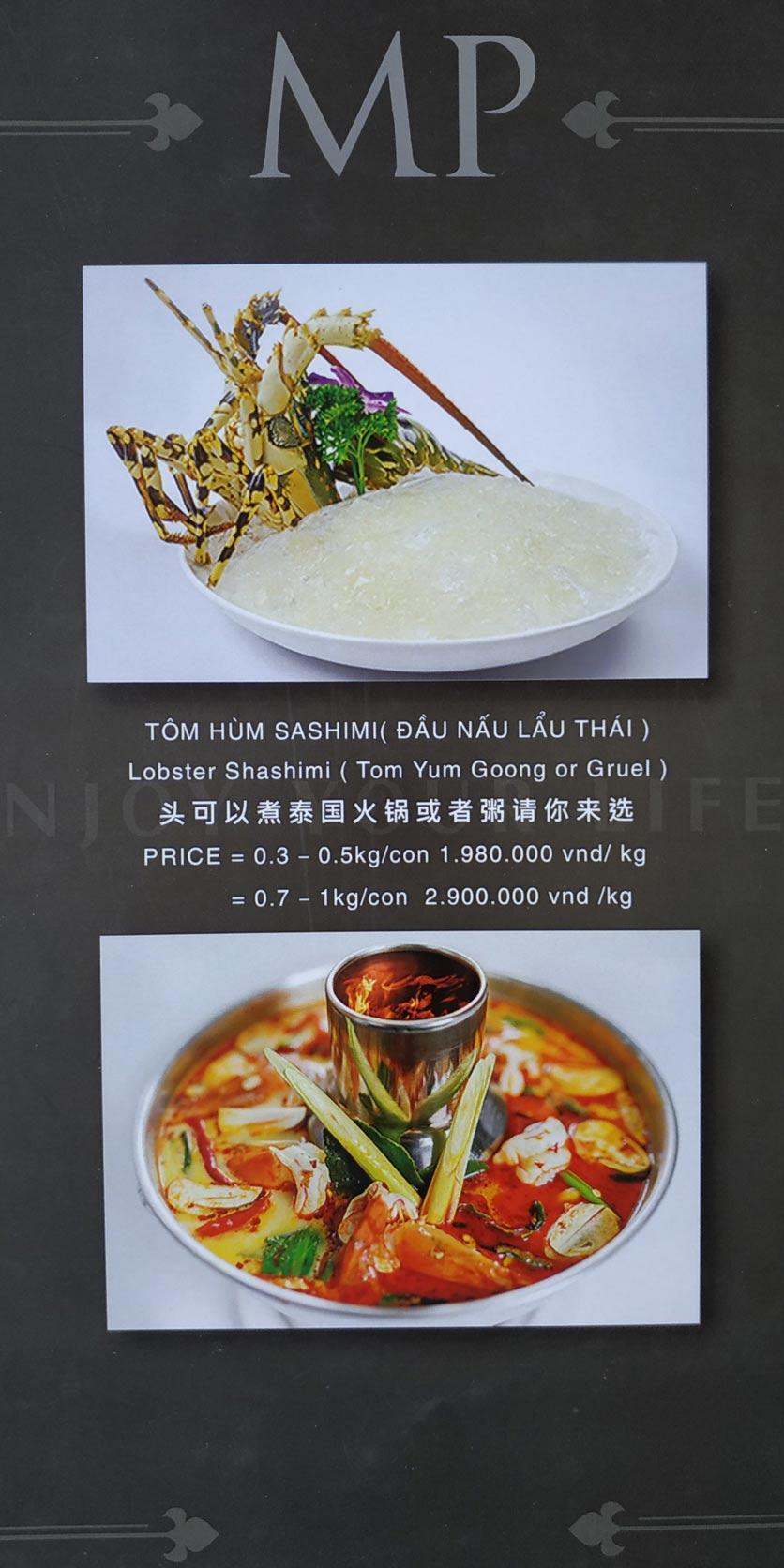 Menu MP Thai Seafood Restaurant - Phạm Văn Đồng 4