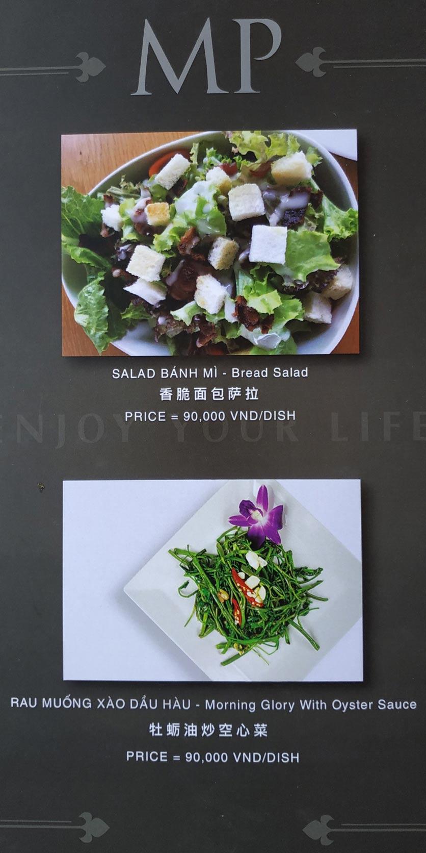 Menu MP Thai Seafood Restaurant - Phạm Văn Đồng 5