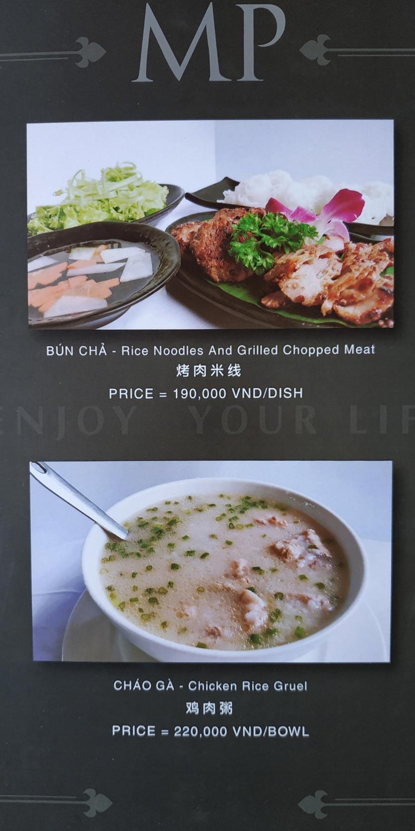 Menu MP Thai Seafood Restaurant - Phạm Văn Đồng 6
