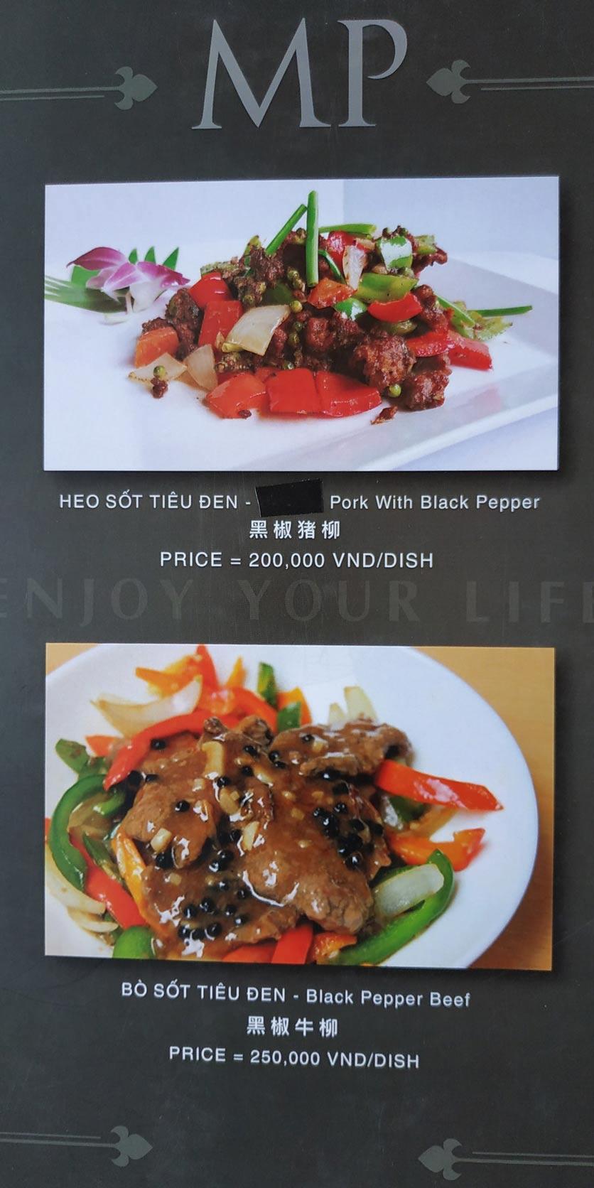 Menu MP Thai Seafood Restaurant - Phạm Văn Đồng 7