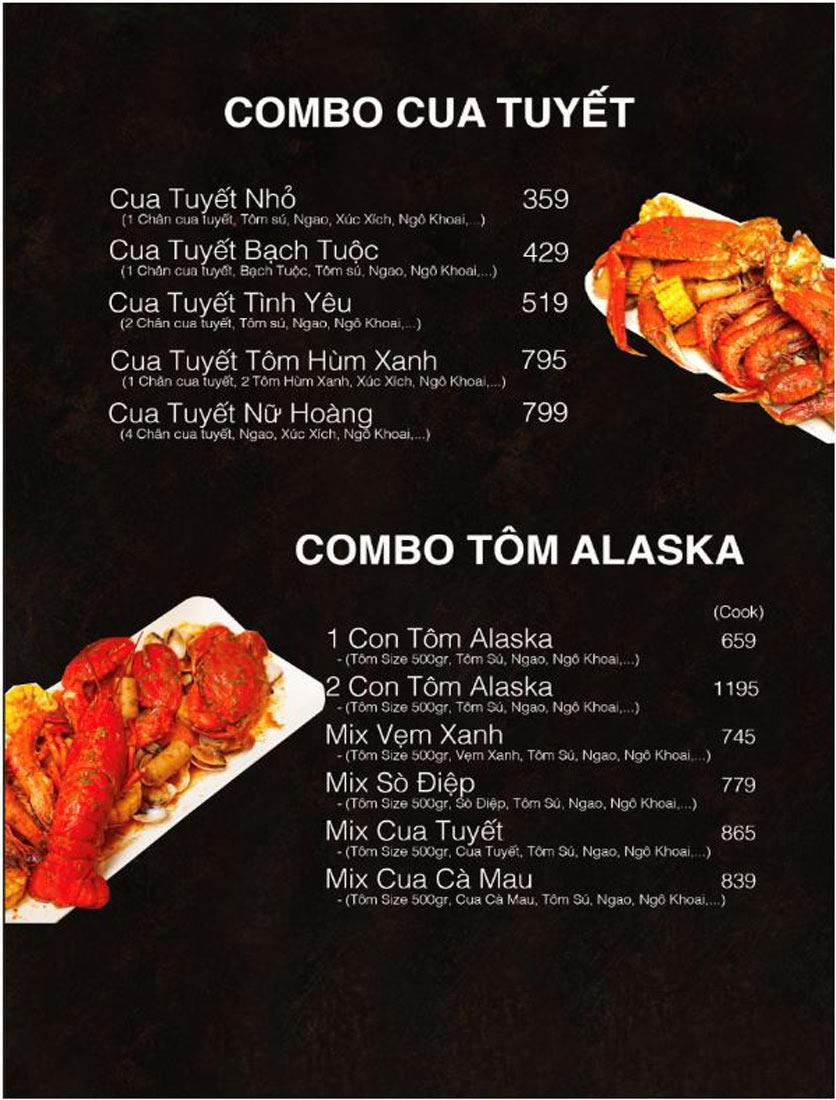 Menu Mr Tom American - Hải Sản Cajun Mỹ - Nguyễn Sơn   4