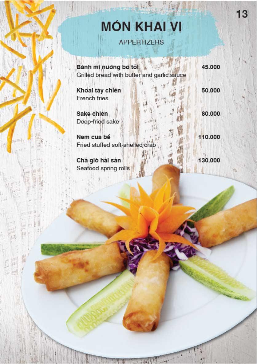Menu Nha Trang View Restaurant - Trần Phú 14