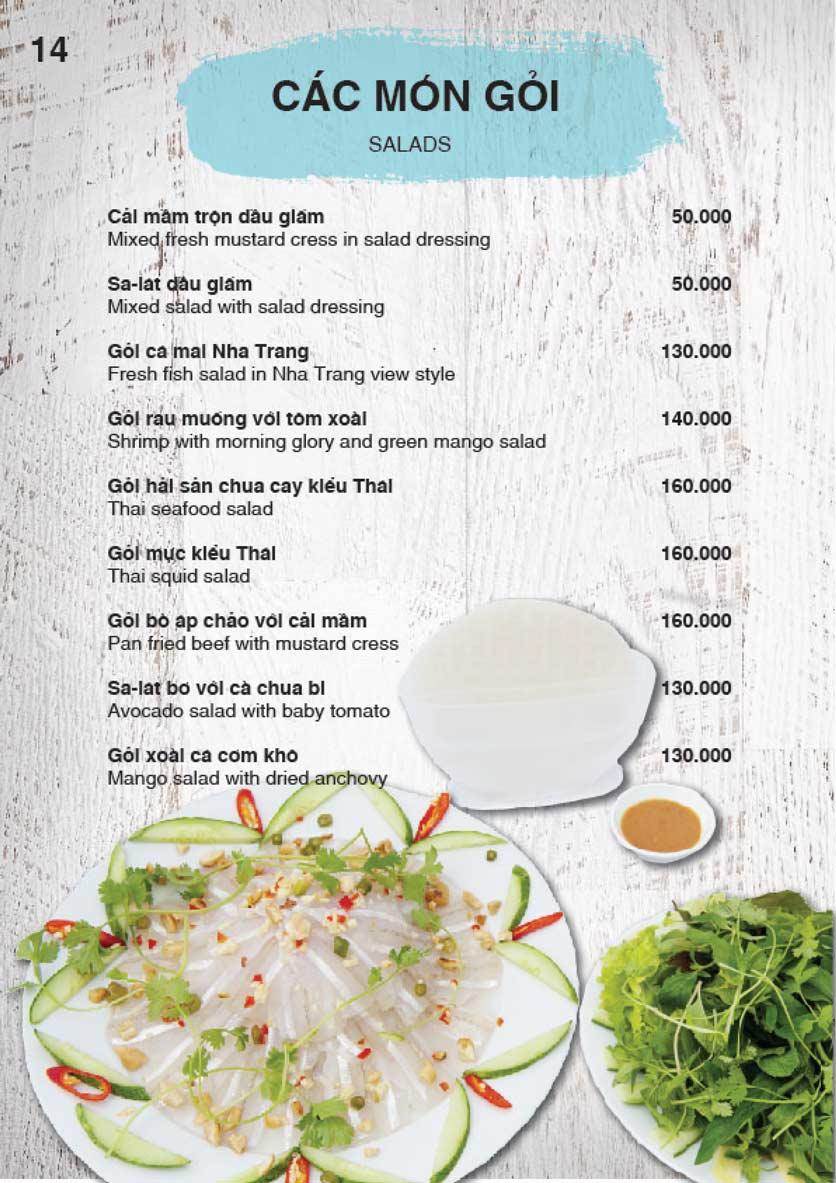 Menu Nha Trang View Restaurant - Trần Phú 15