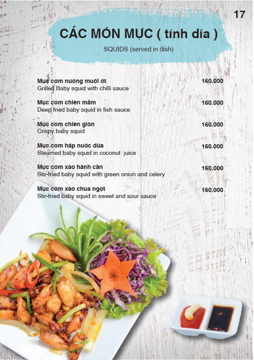 Menu Nha Trang View Restaurant - Trần Phú 18