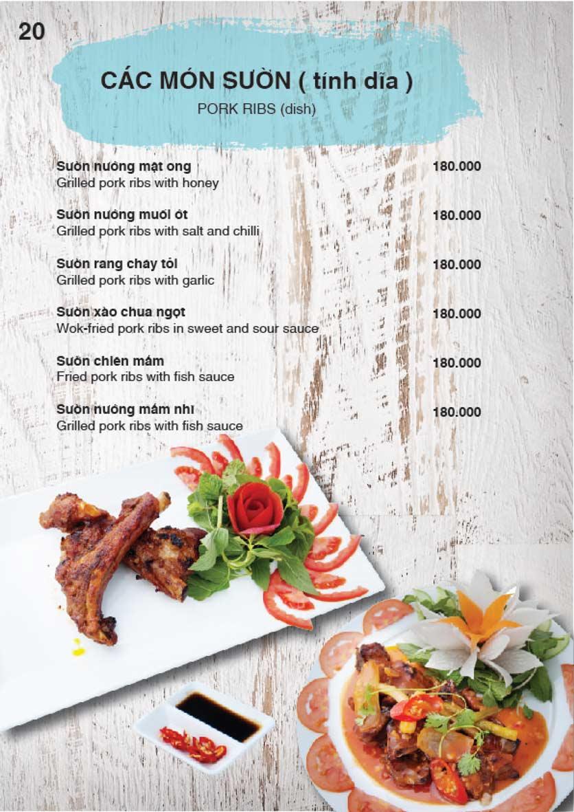 Menu Nha Trang View Restaurant - Trần Phú 21