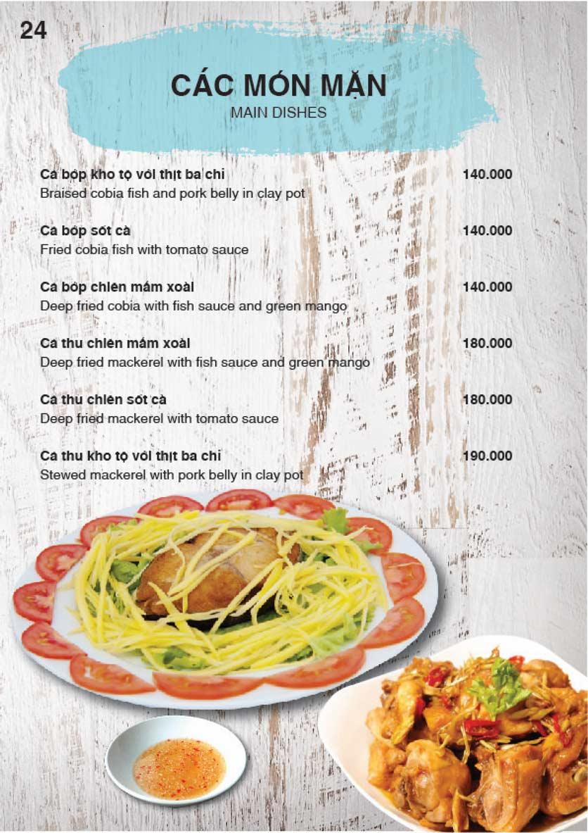 Menu Nha Trang View Restaurant - Trần Phú 25