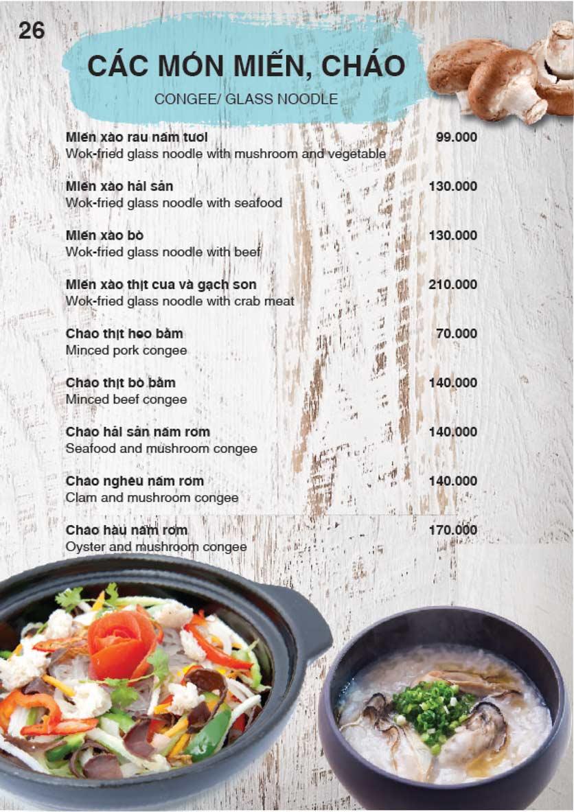 Menu Nha Trang View Restaurant - Trần Phú 27