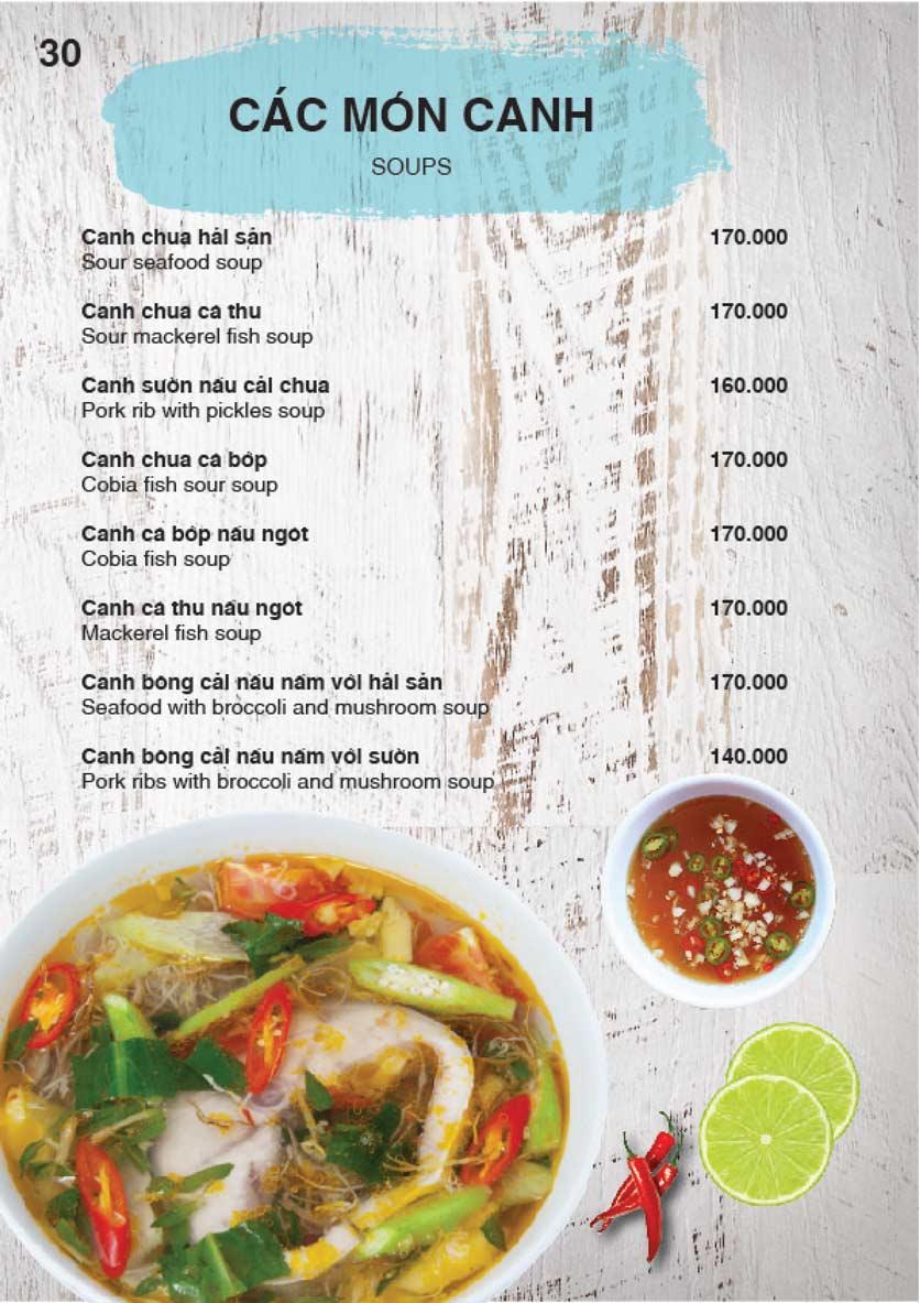 Menu Nha Trang View Restaurant - Trần Phú 31