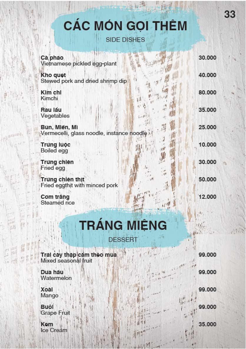 Menu Nha Trang View Restaurant - Trần Phú 34