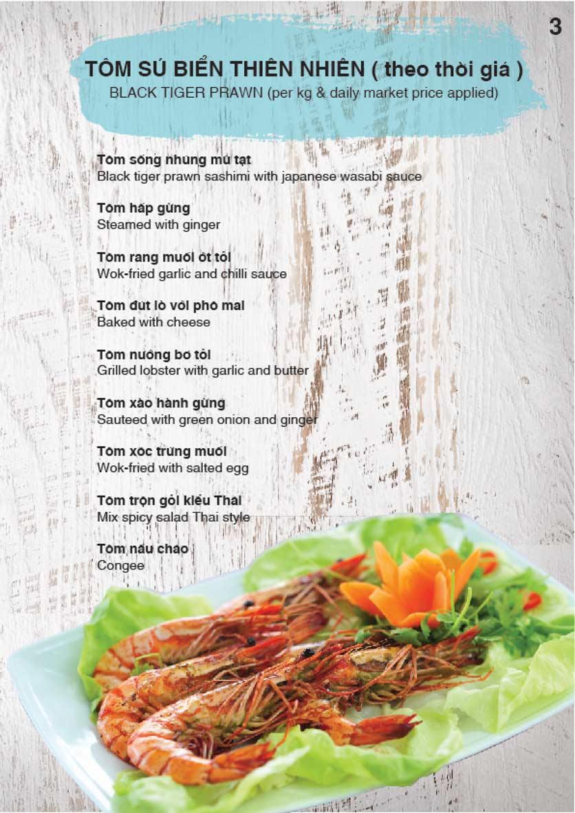 Menu Nha Trang View Restaurant - Trần Phú 4