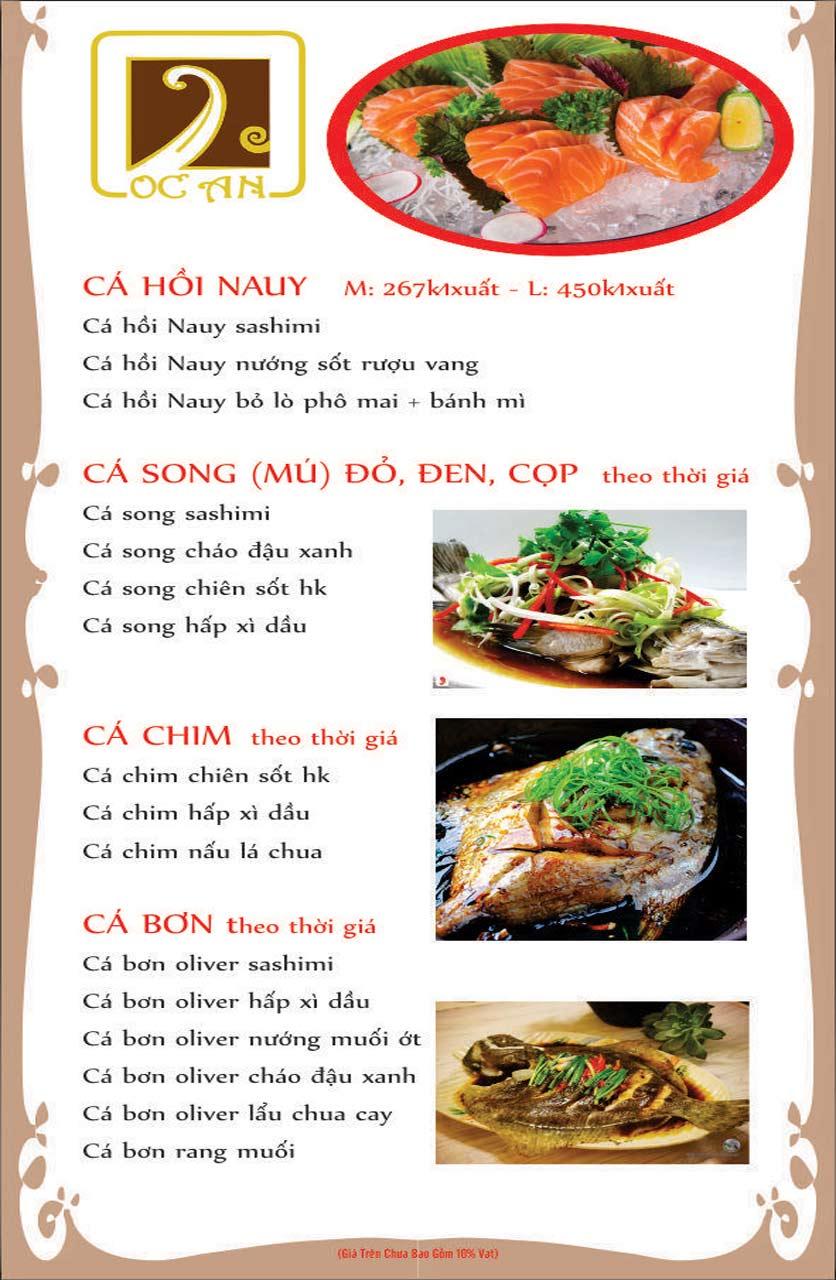 Menu Ốc An - Hải Sản 3 Miền - Nguyễn Văn Huyên 10