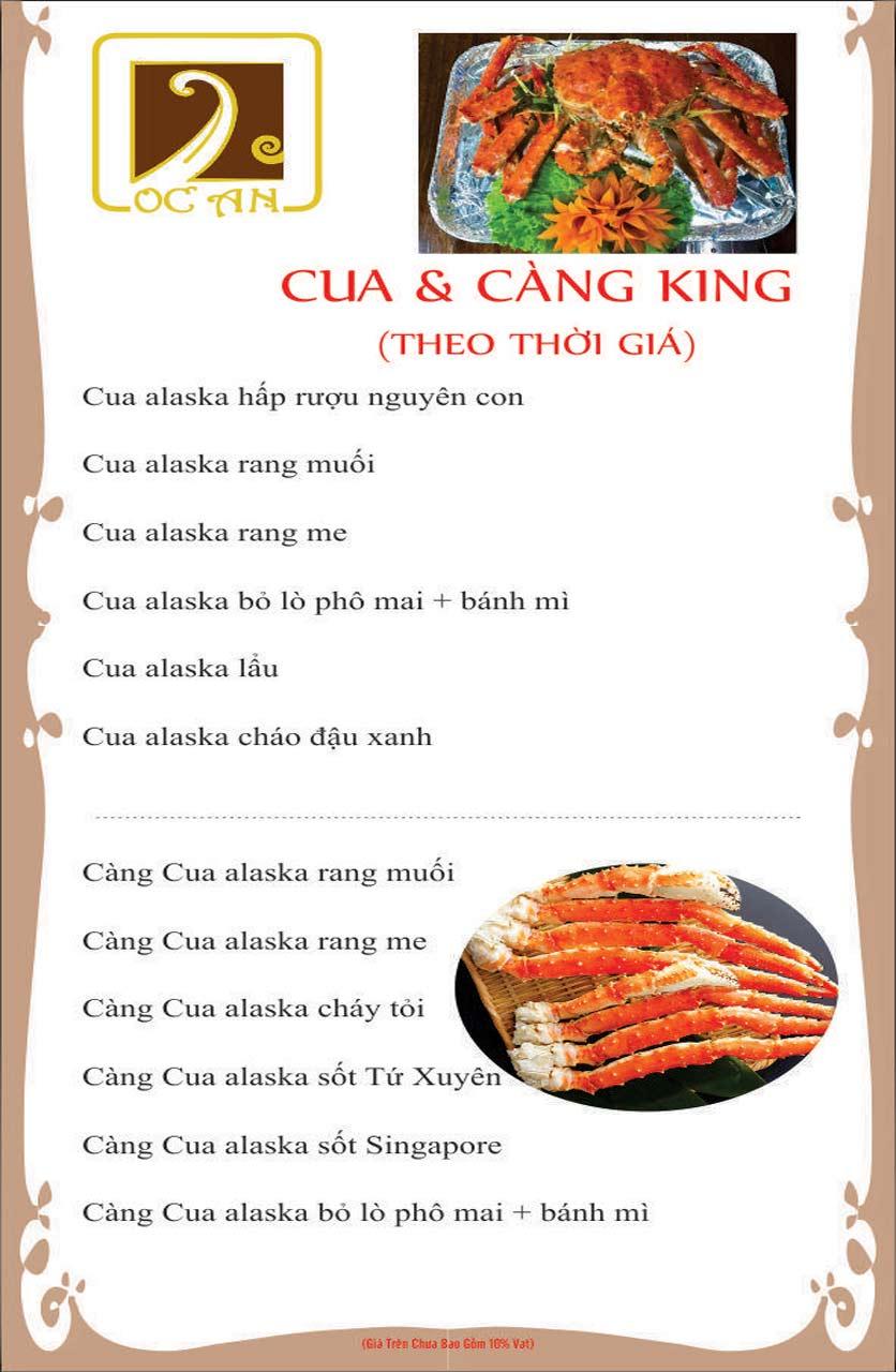 Menu Ốc An - Hải Sản 3 Miền - Nguyễn Văn Huyên 13