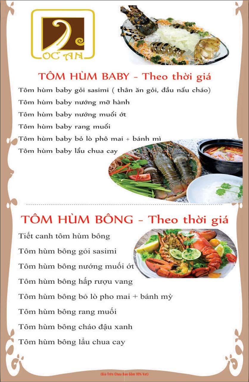 Menu Ốc An - Hải Sản 3 Miền - Nguyễn Văn Huyên 2