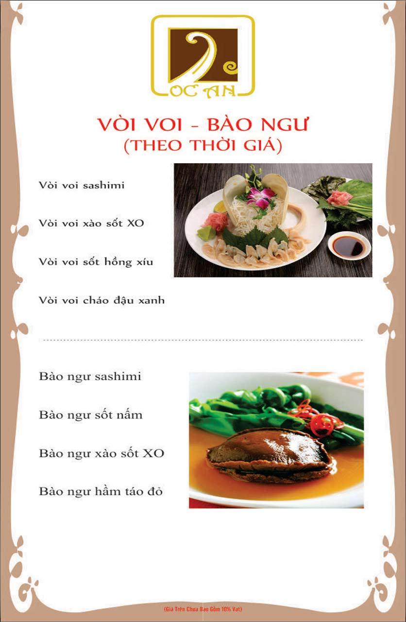 Menu Ốc An - Hải Sản 3 Miền - Nguyễn Văn Huyên 4
