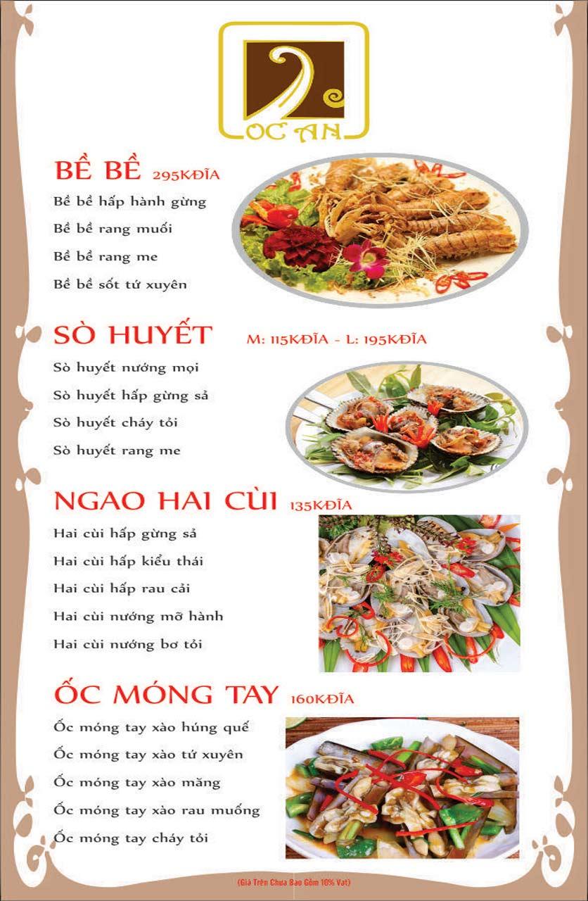 Menu Ốc An - Hải Sản 3 Miền - Nguyễn Văn Huyên 7