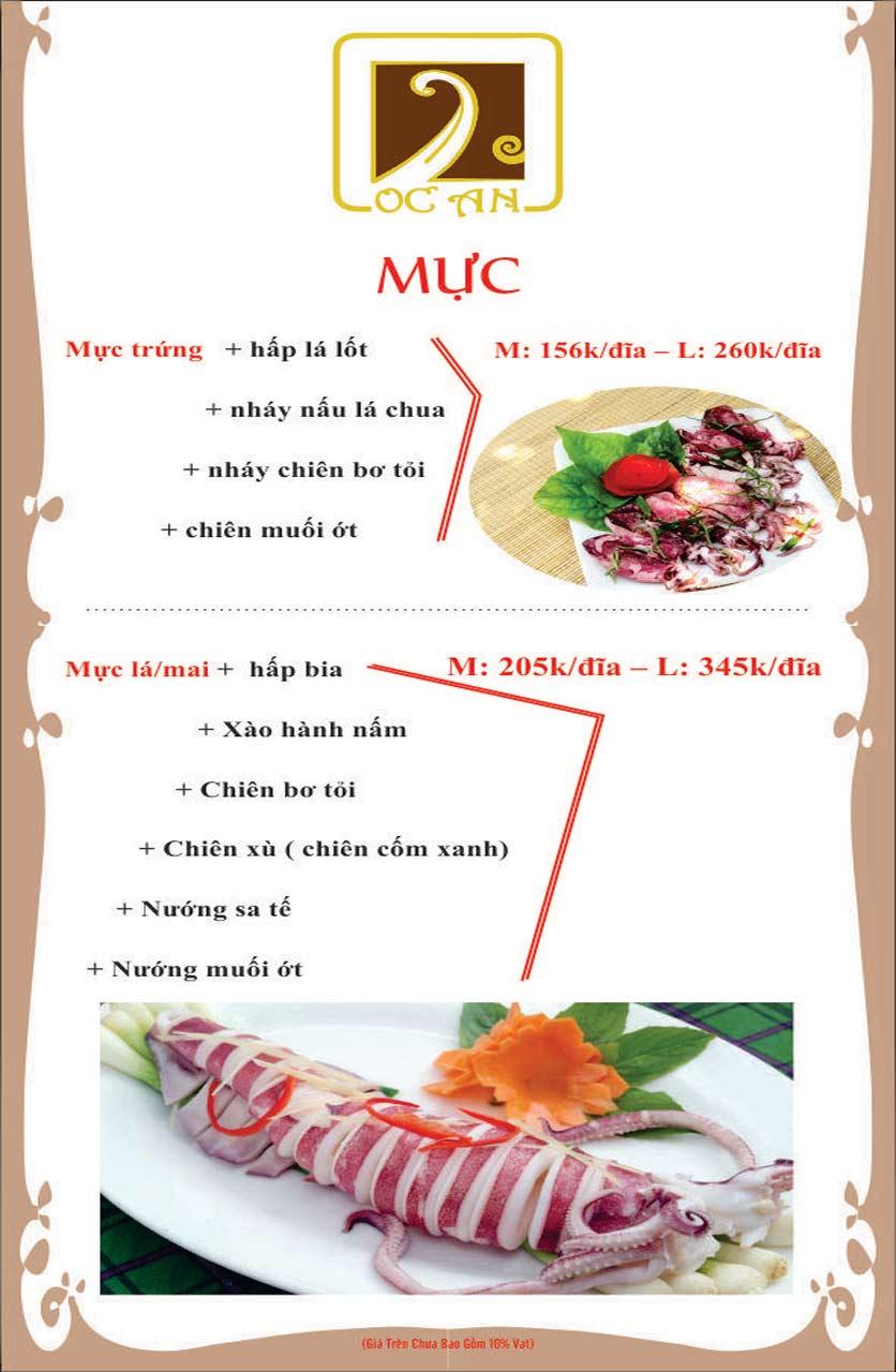 Menu Ốc An - Hải Sản 3 Miền - Nguyễn Văn Huyên 8