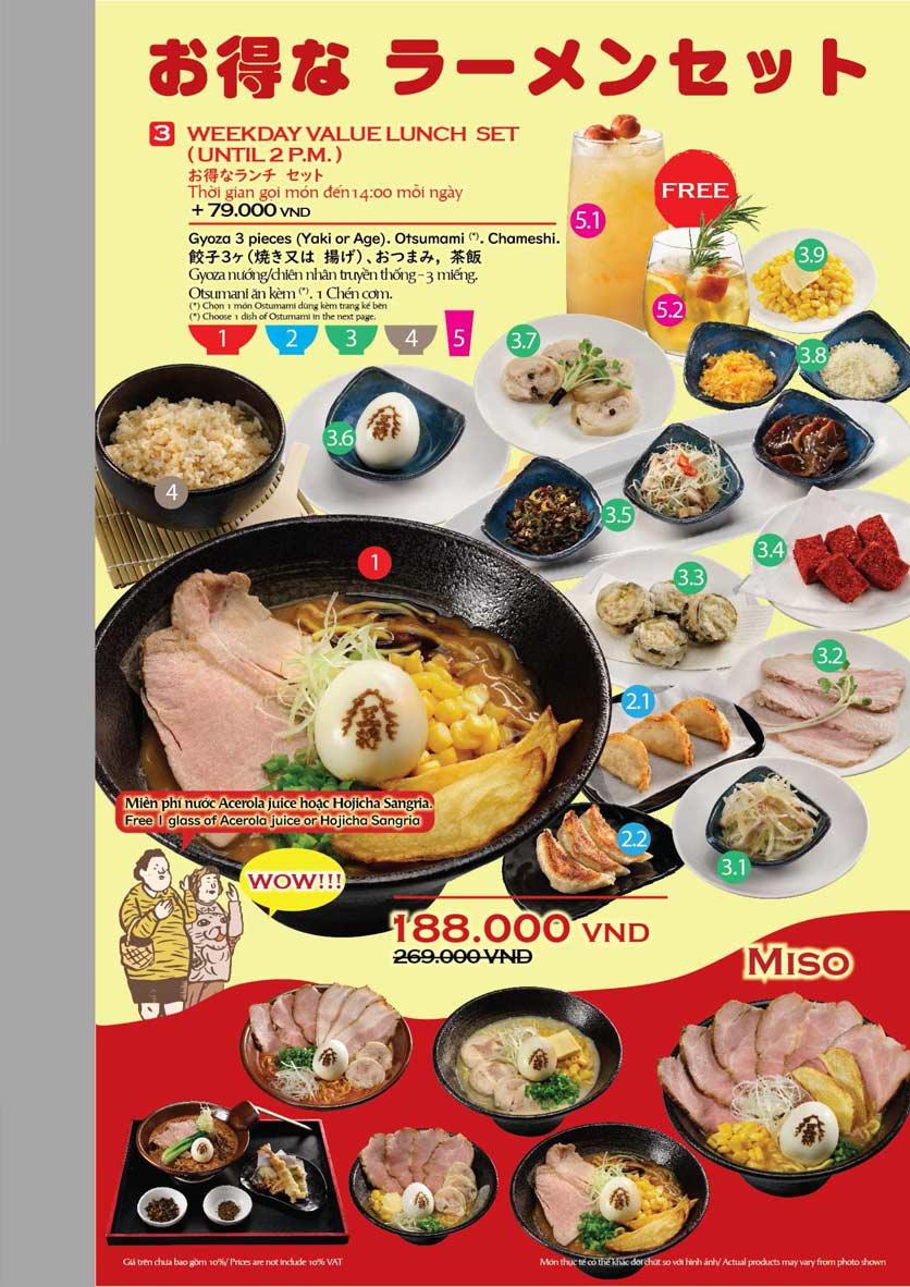 Menu Osaka Ohsho - Vạn Hạnh Mall  12