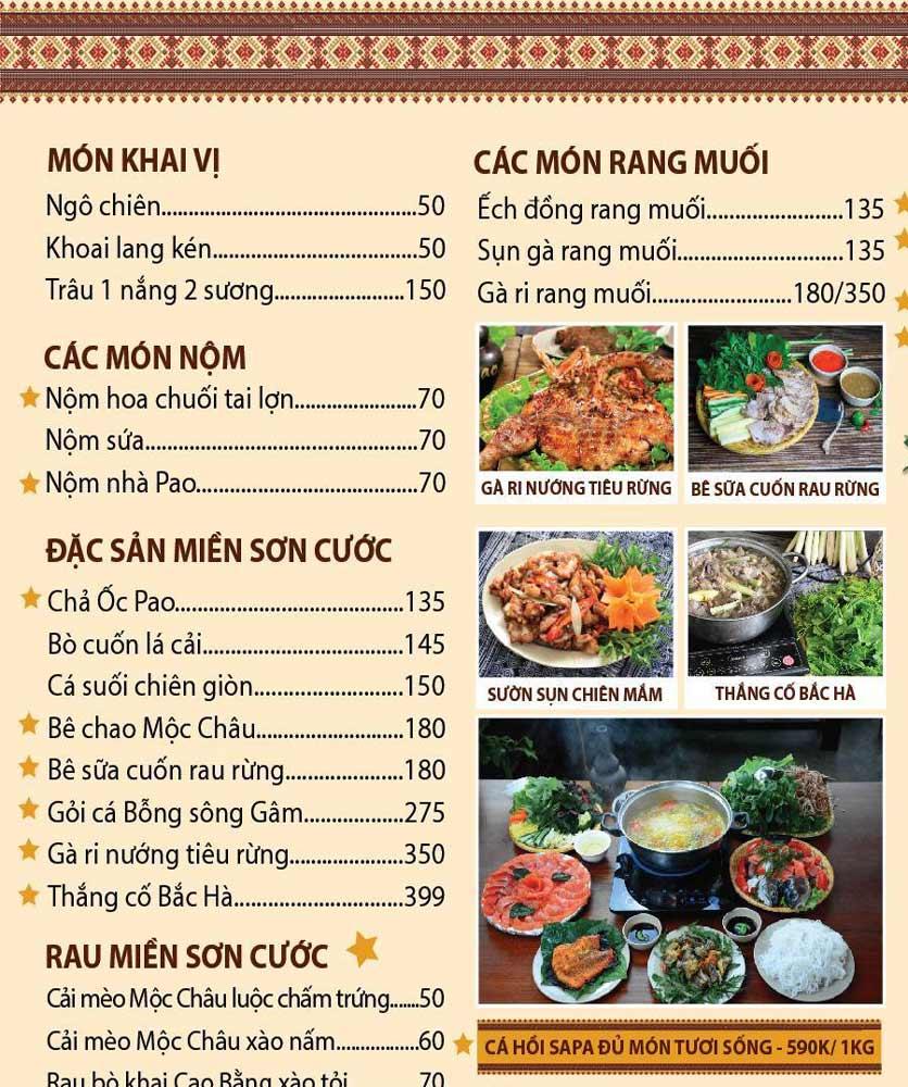 Menu Pao Quán - Trần Thái Tông 1