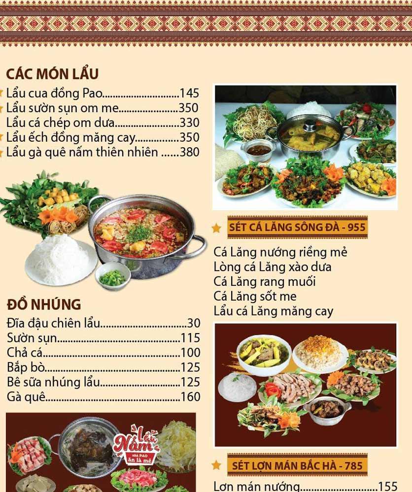 Menu Pao Quán - Trần Thái Tông 2