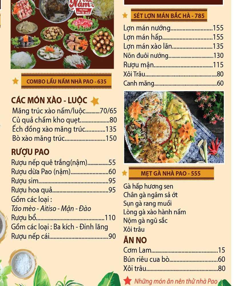 Menu Pao Quán - Trần Thái Tông 4