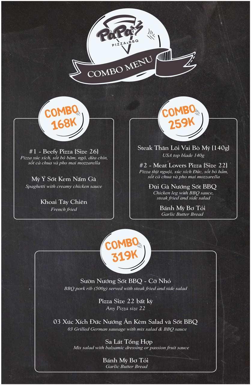 Menu Papa's Pizza & BBQ - Nguyễn Văn Cừ 2