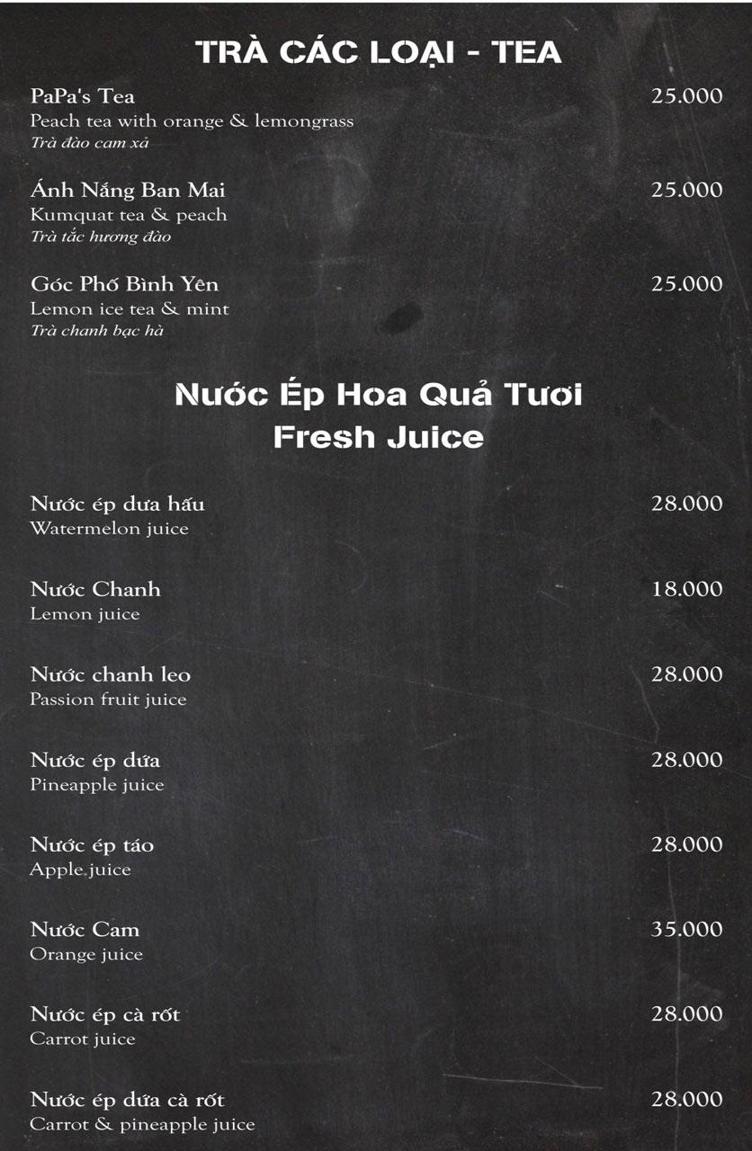 Menu Papa's Pizza & BBQ - Nguyễn Văn Cừ 8