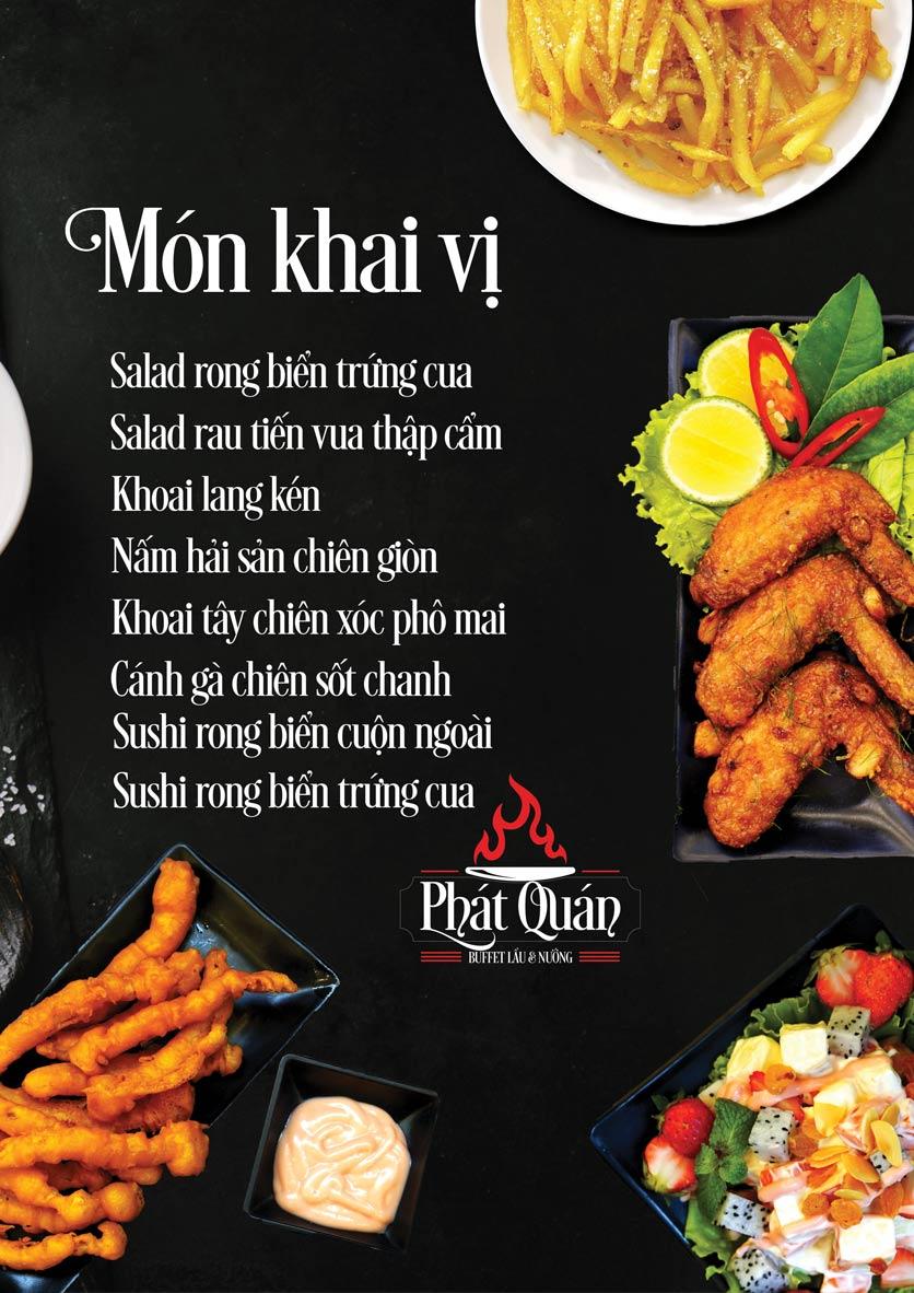 Menu Phát Quán - 32 Phú Diễn 1