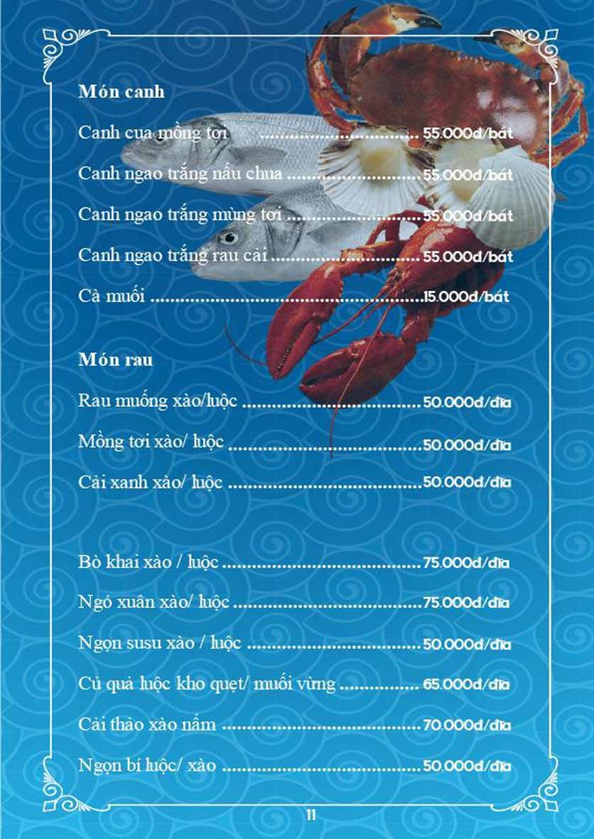 Menu Phố Hải Sản - Trần Kim Xuyến   8